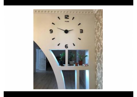 Настенные 3d часы для дома и офиса. 3д часы Все виды есть Доставка РК.